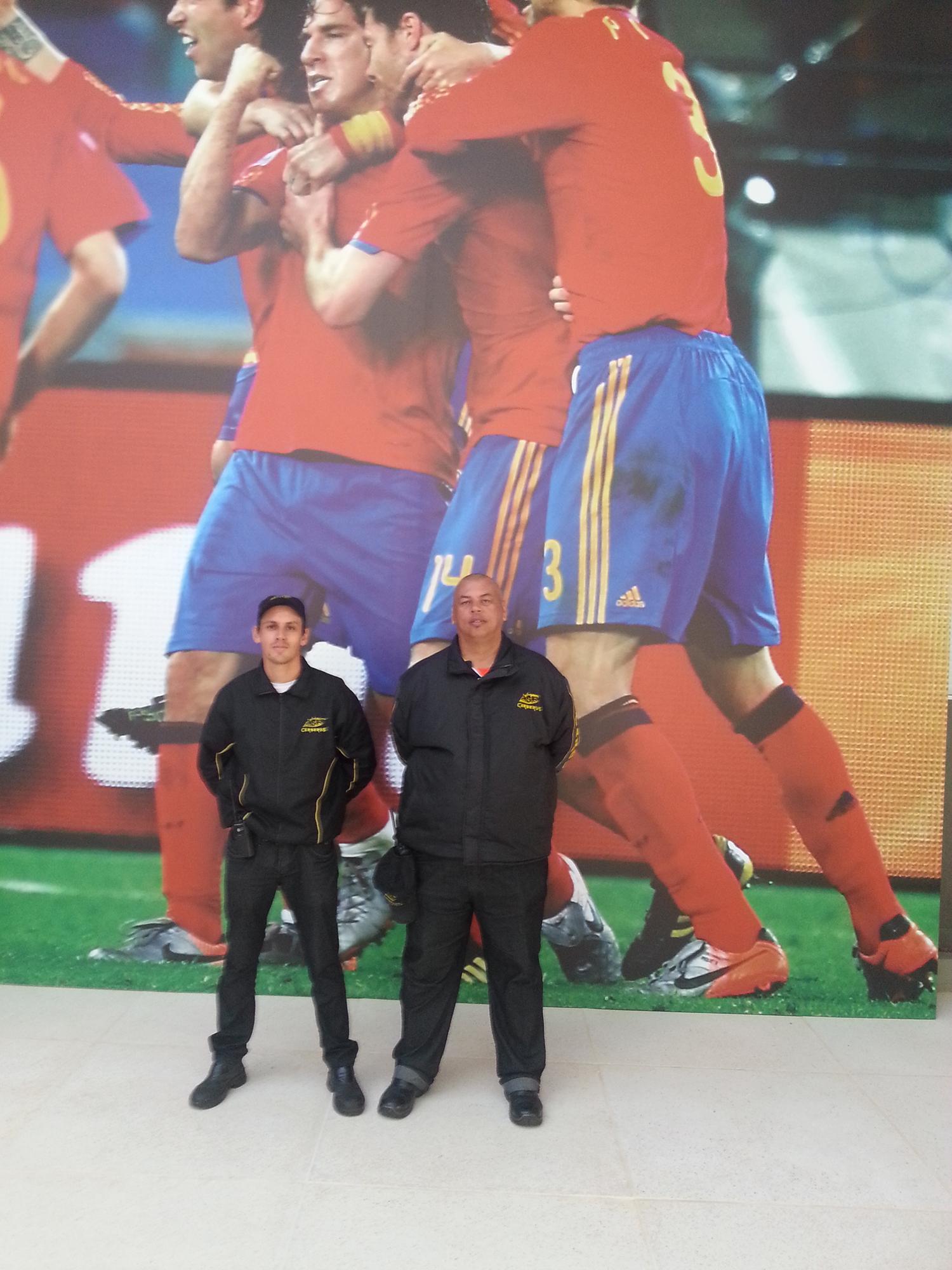 Nossa equipe acompanhou a seleção da Espanha na Copa do Mundo de 2014.